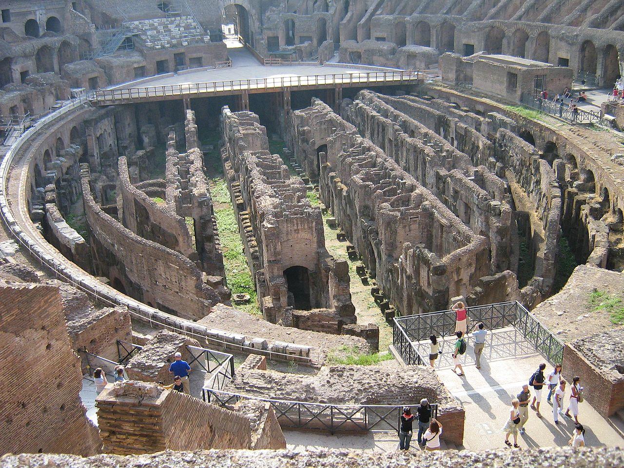 Римский Колизей, вид на арену