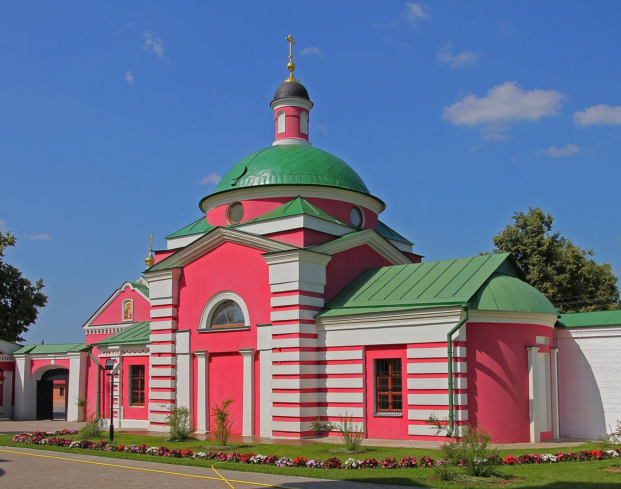 Аносин Борисоглебский монастырь, надвратная церковь Димитрия Ростовского