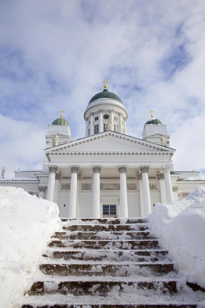 Вид Кафедрального собора в Хельсинки, Финляндия