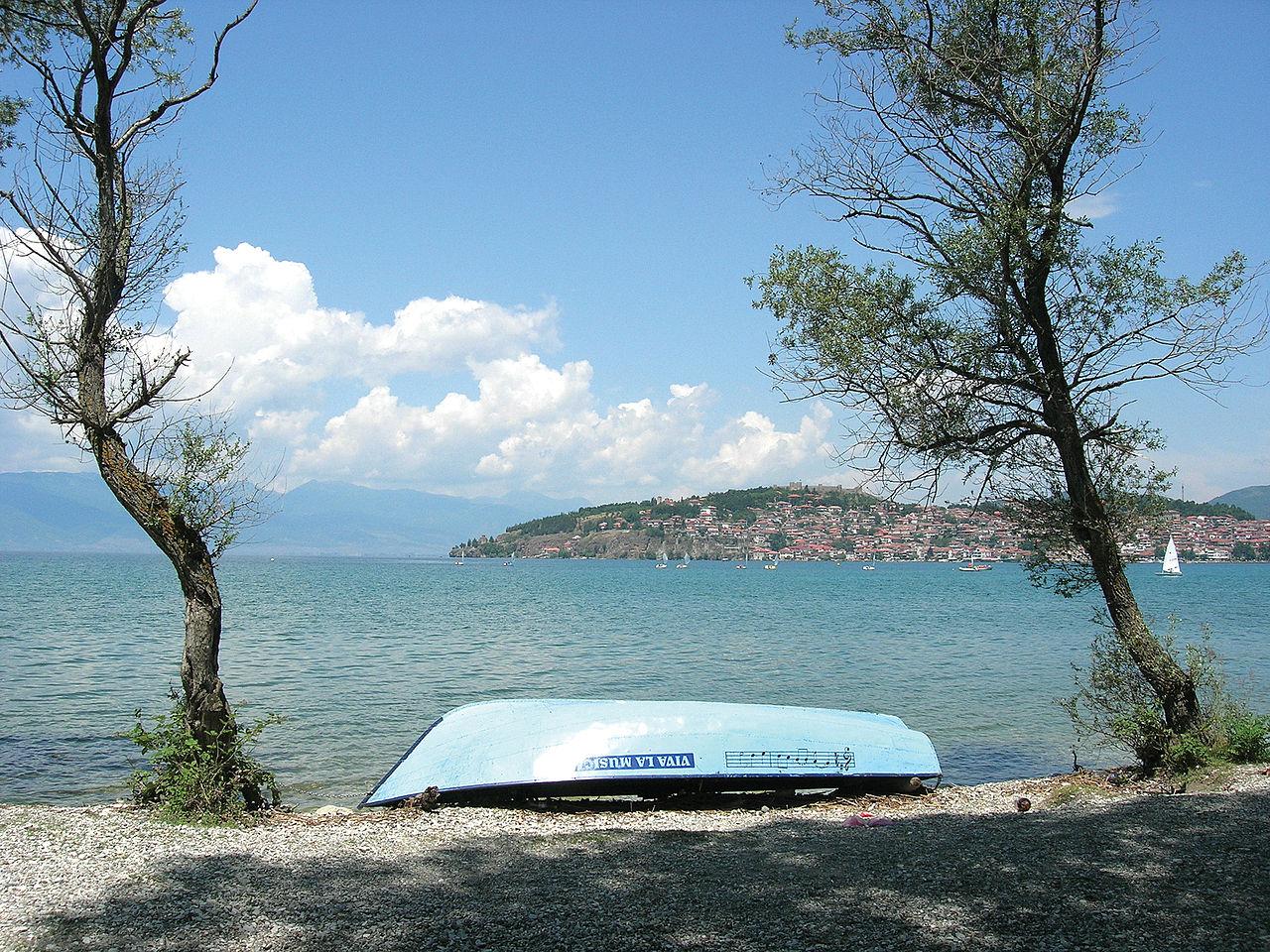 Охридское озеро, на берегу