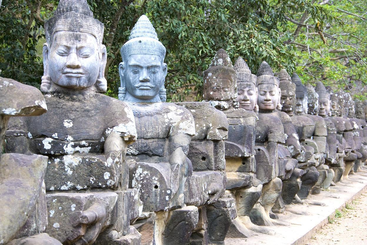 Южные ворота в Ангкоре