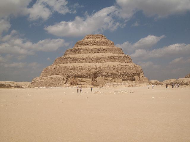Вид на пирамиду Джосера, Саккара