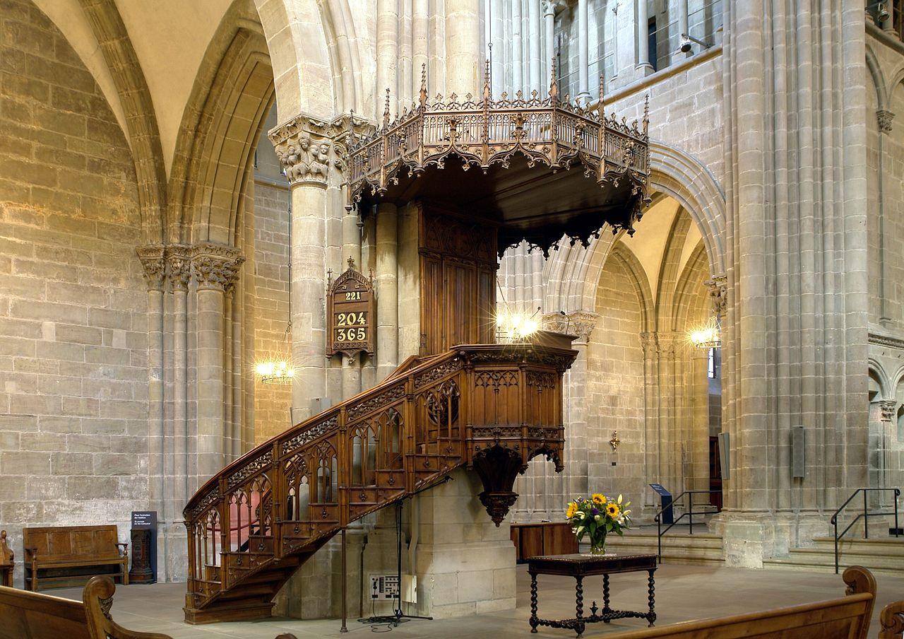 Собор святого Петра в Женеве, кафедра проповедника