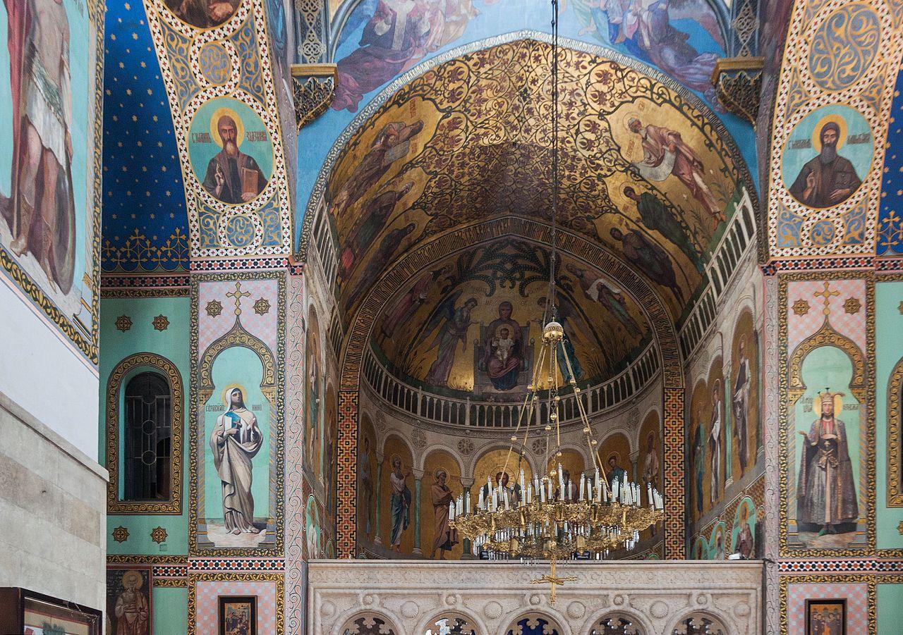 Храм Сиони, фрески