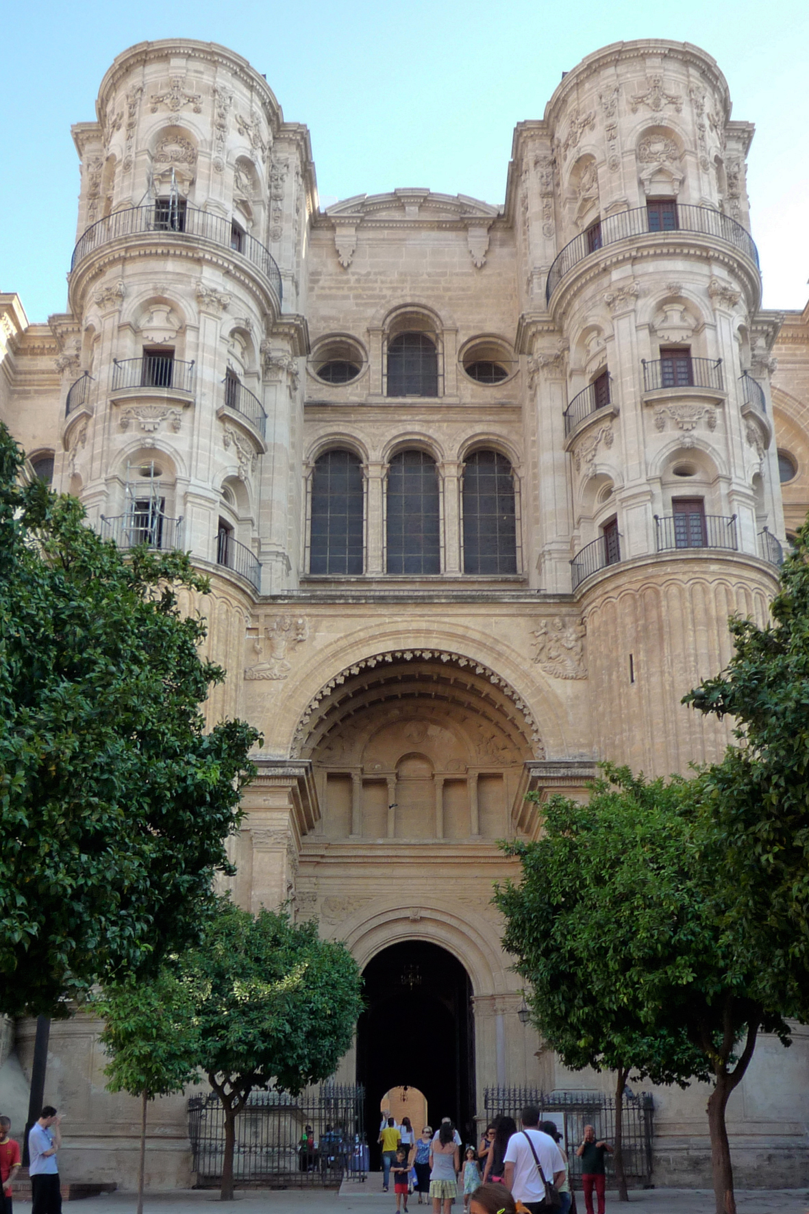 Кафедральный собор Малаги, северный фасад