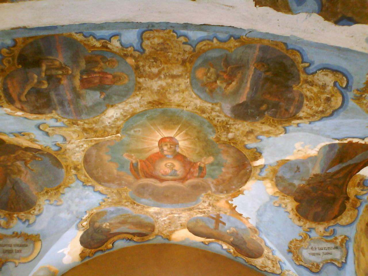 Роспись свода Святых ворот Спасо-Прилуцкого монастыря