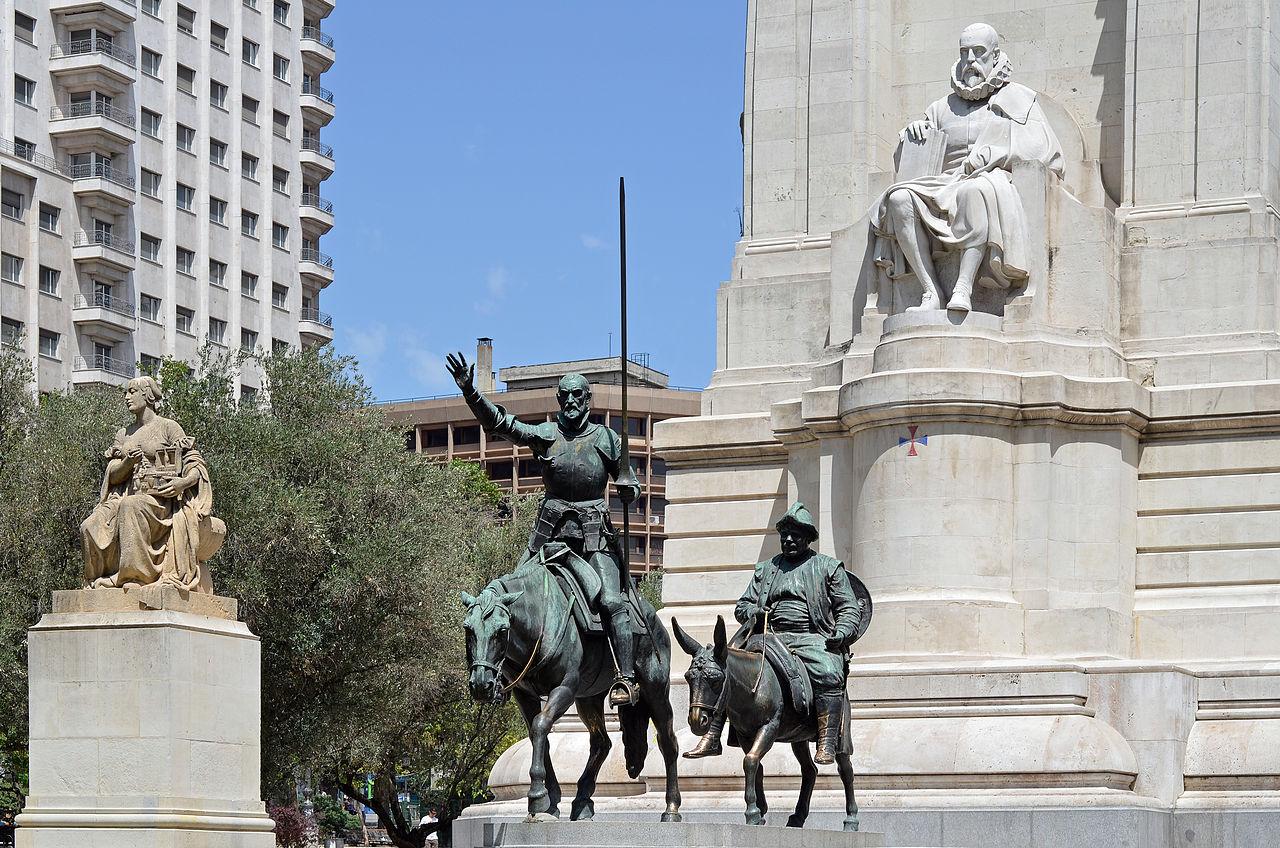 Памятник Мигелю де Сервантесу, фрагмент