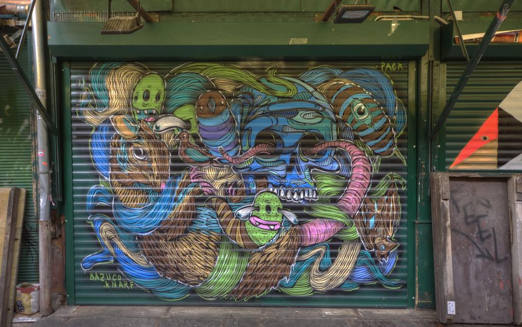 Галерея стрит-арта в Вене, работа уличного художника