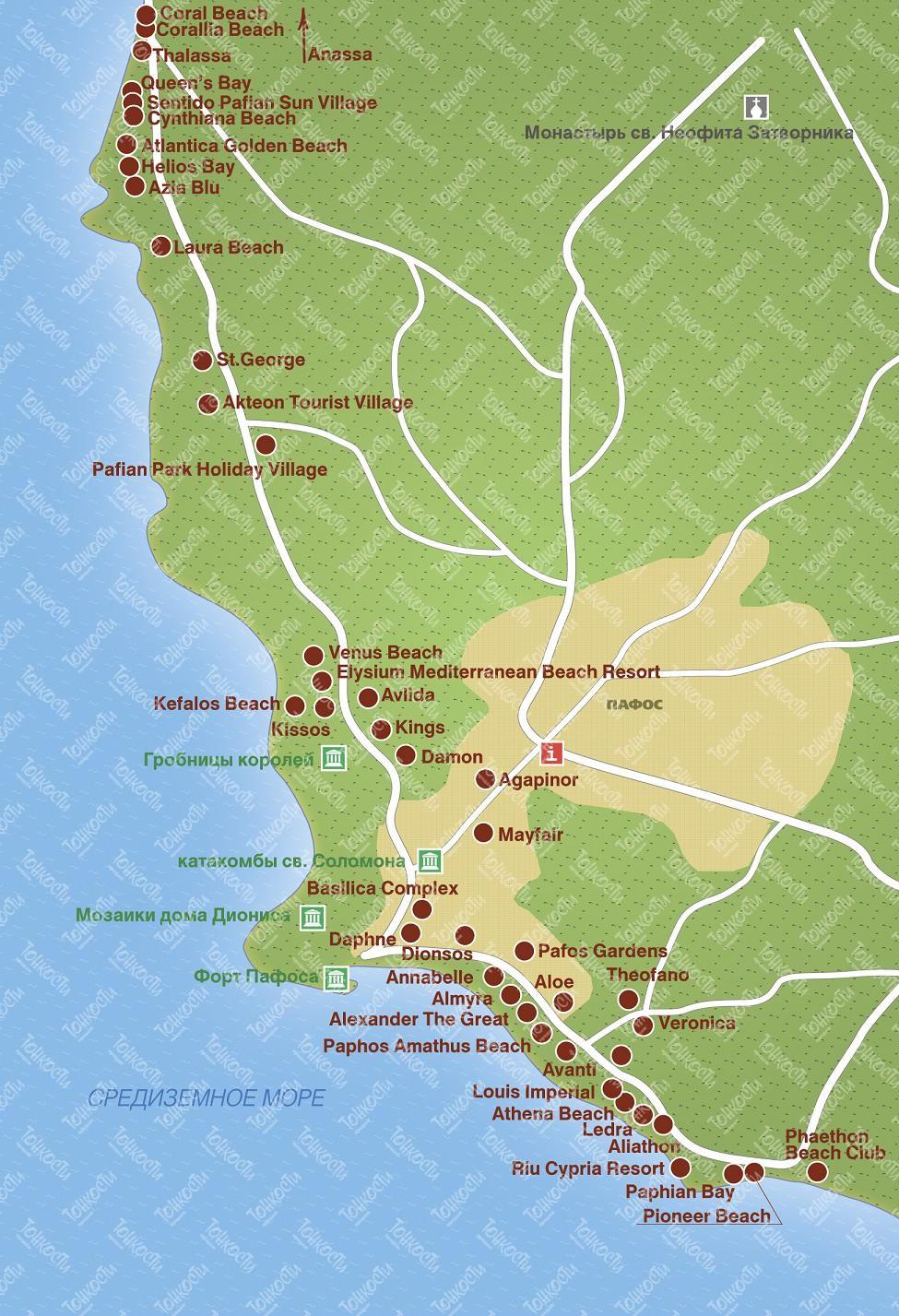 схема автобусных маршрутов лимассол