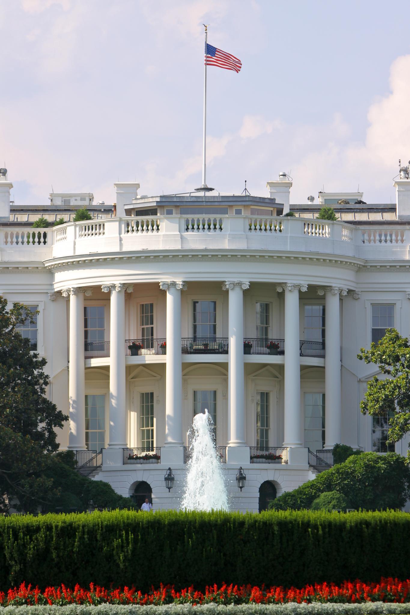 Вид на Белый дом, Вашингтон