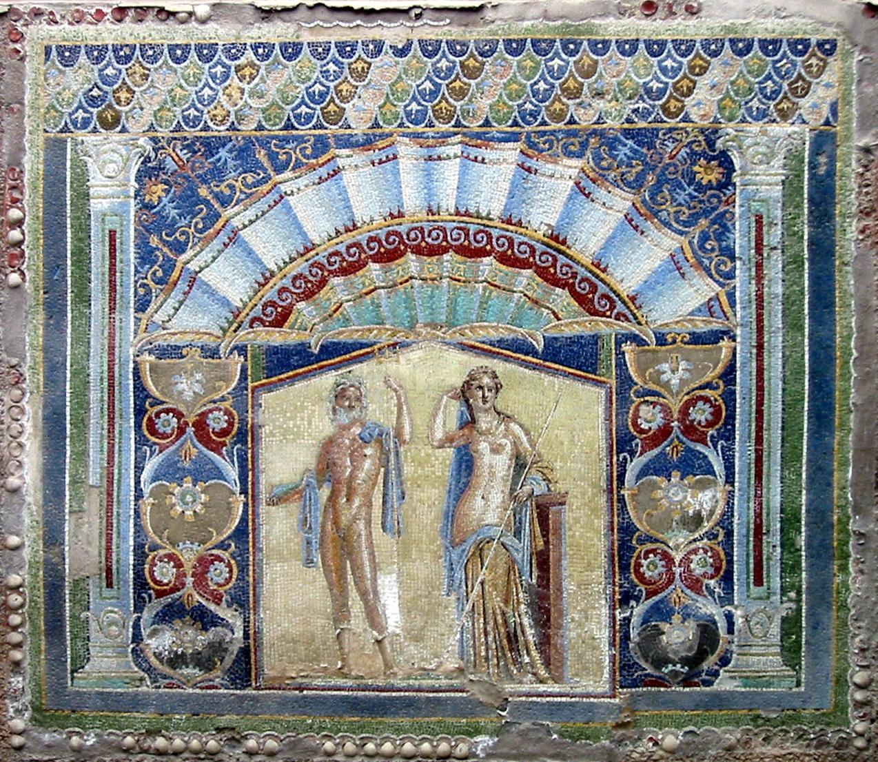 Геркуланум, мозаика Нептуна и Амфитриты