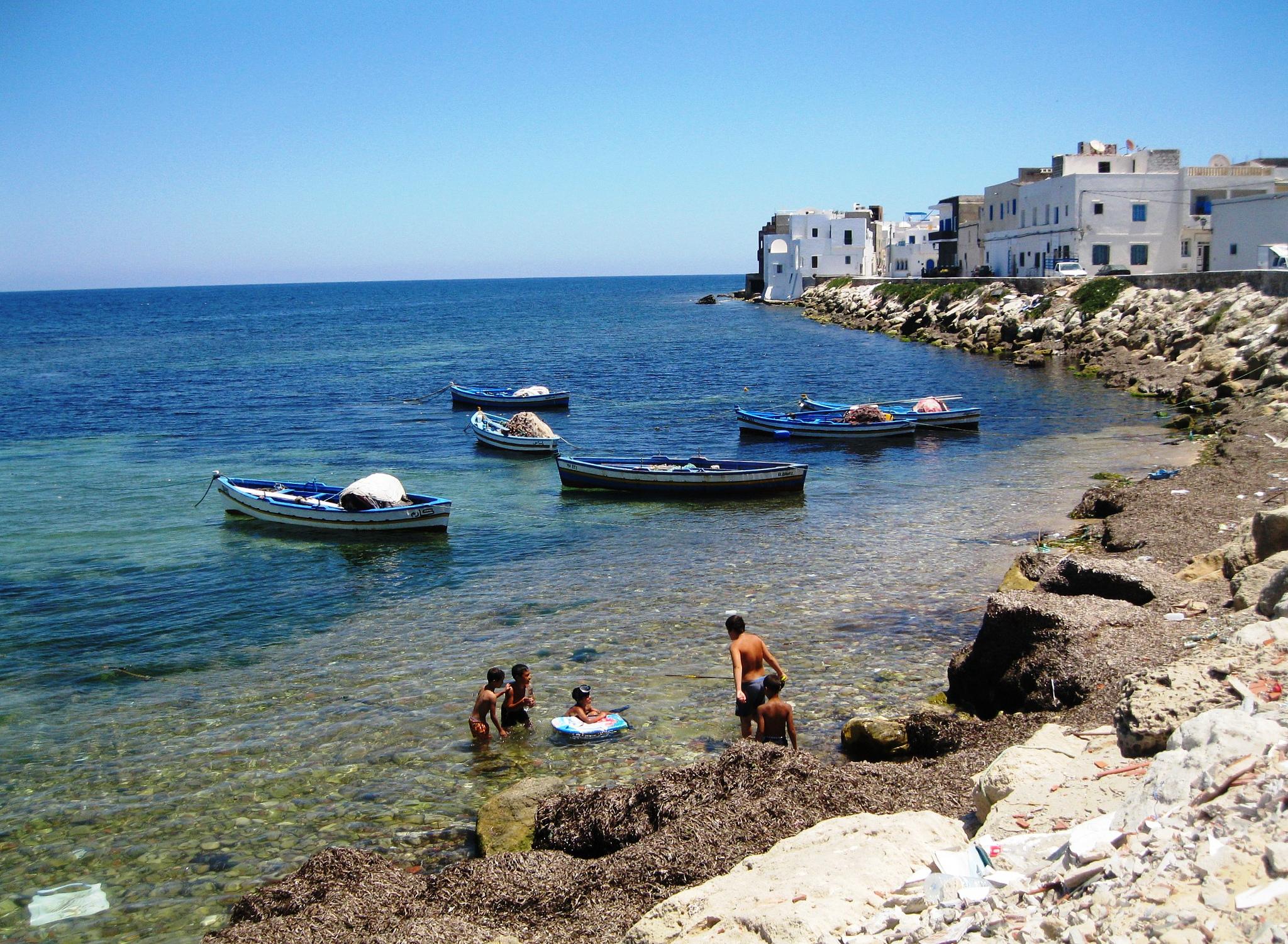Махдия, один из городских пляжей