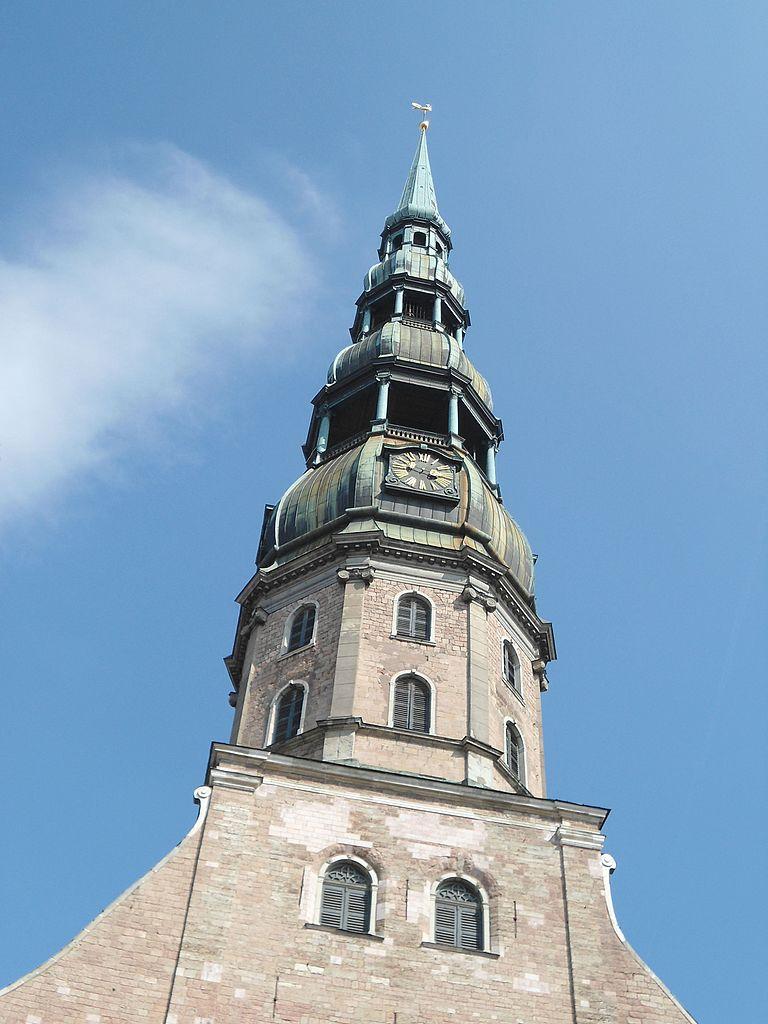 Церковь Святого Петра в Риге, башня с часами