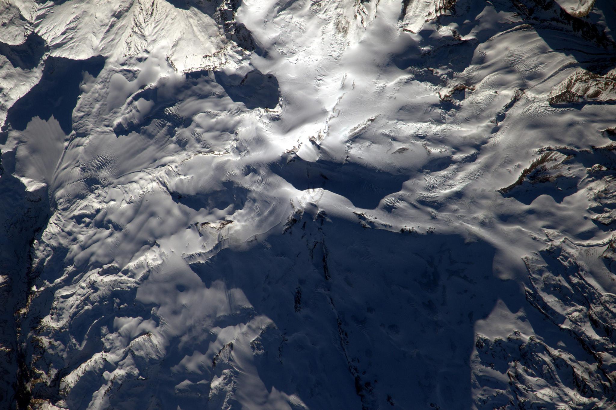 Вид на пик с высоты, Гора Эльбрус