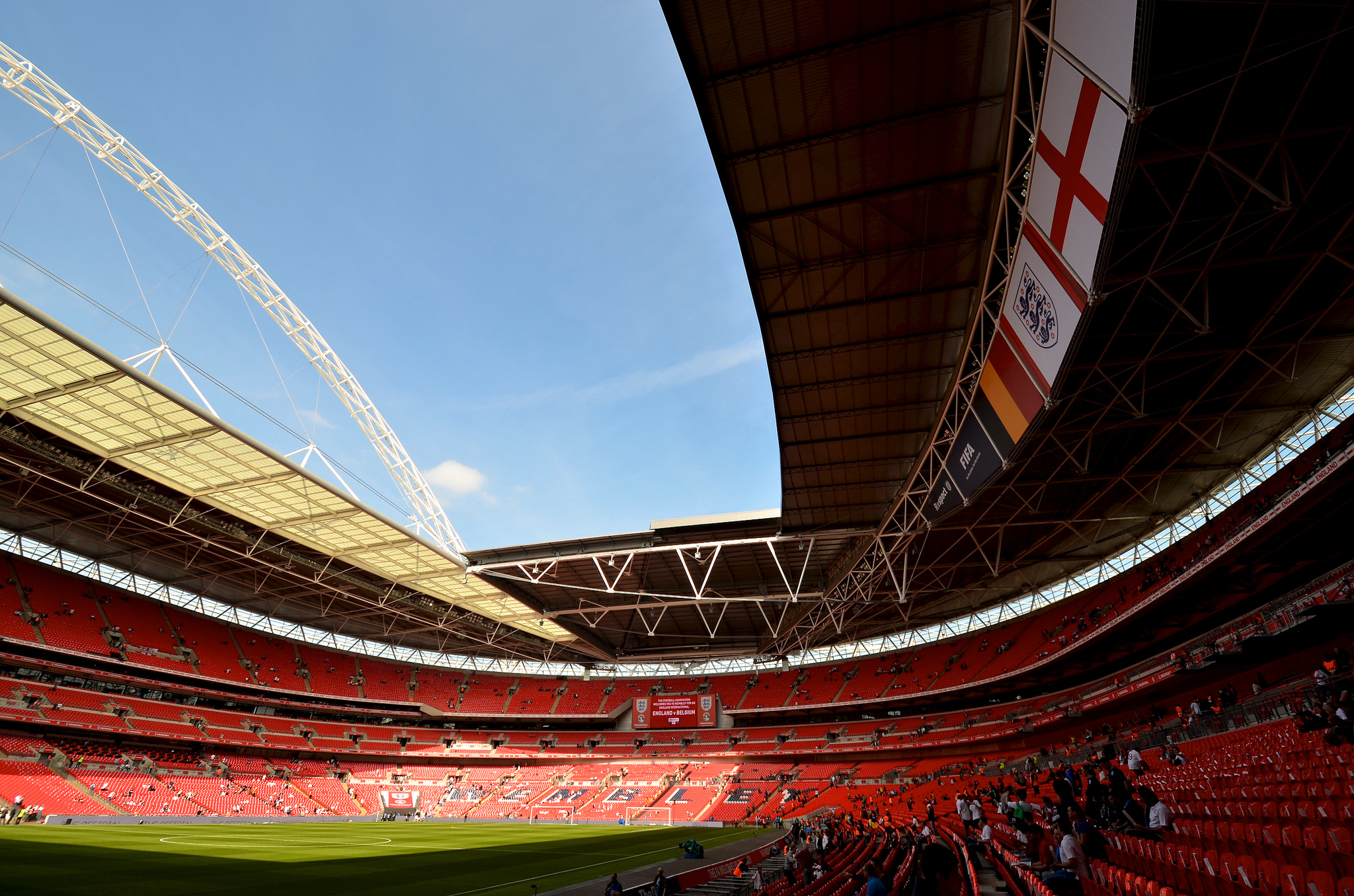 Внутри стадиона Уэмбли, Лондон