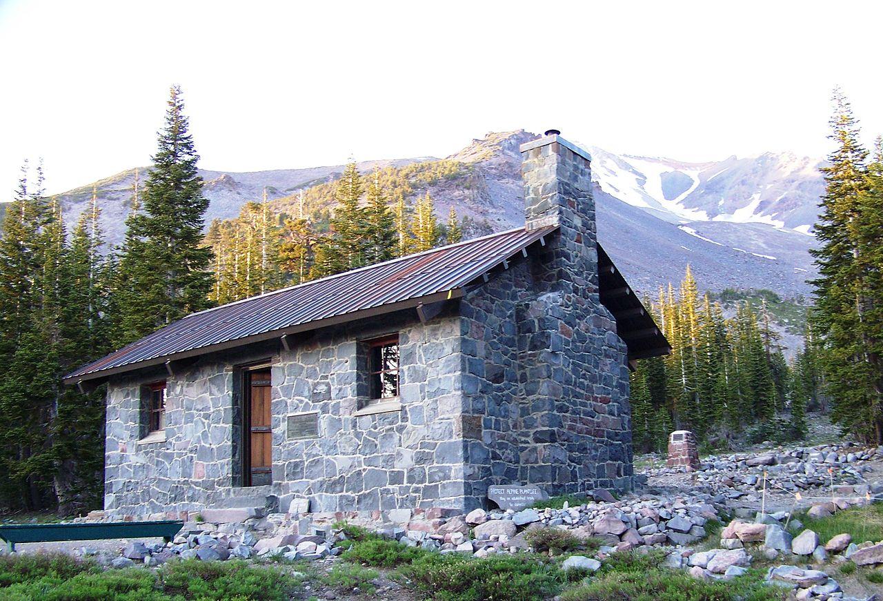 Гора Шаста, лагерь на пути к вершине