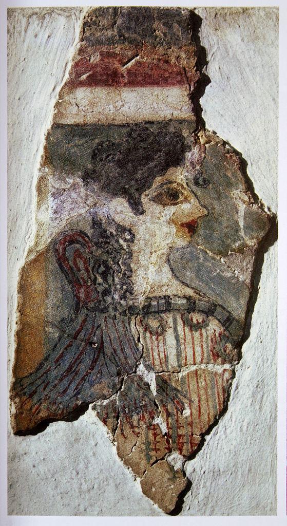 Кносский дворец, фреска с изображением жрицы