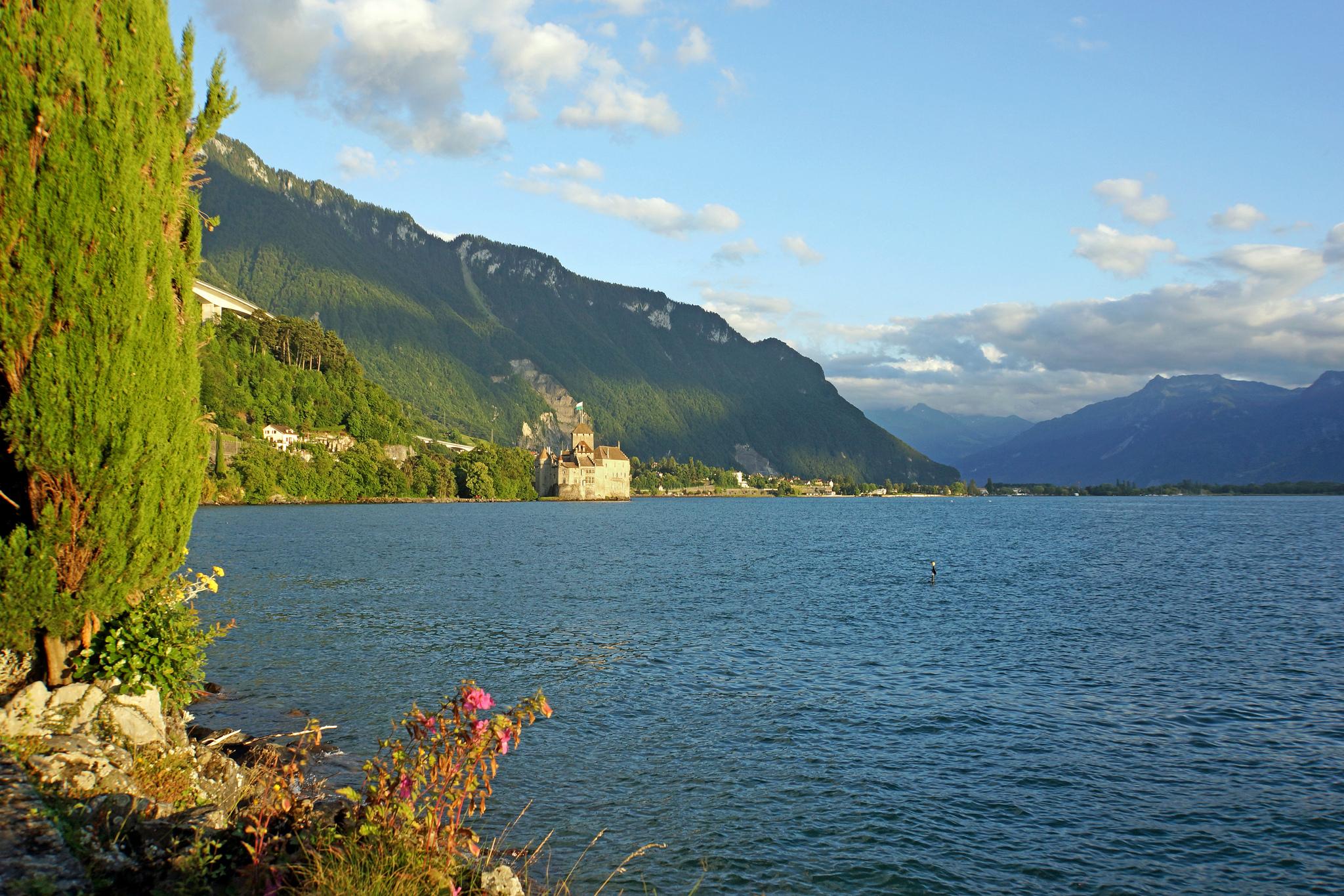 Природа вокруг Шильонского замка, Женевское озеро