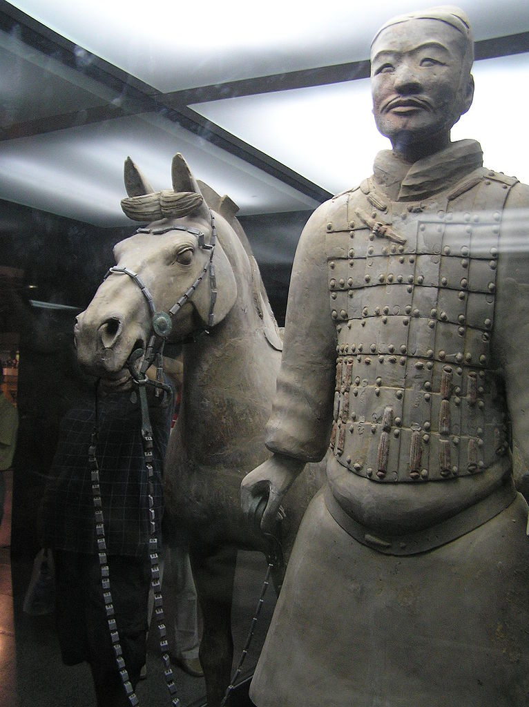 Терракотовая армия, воин с лошадью