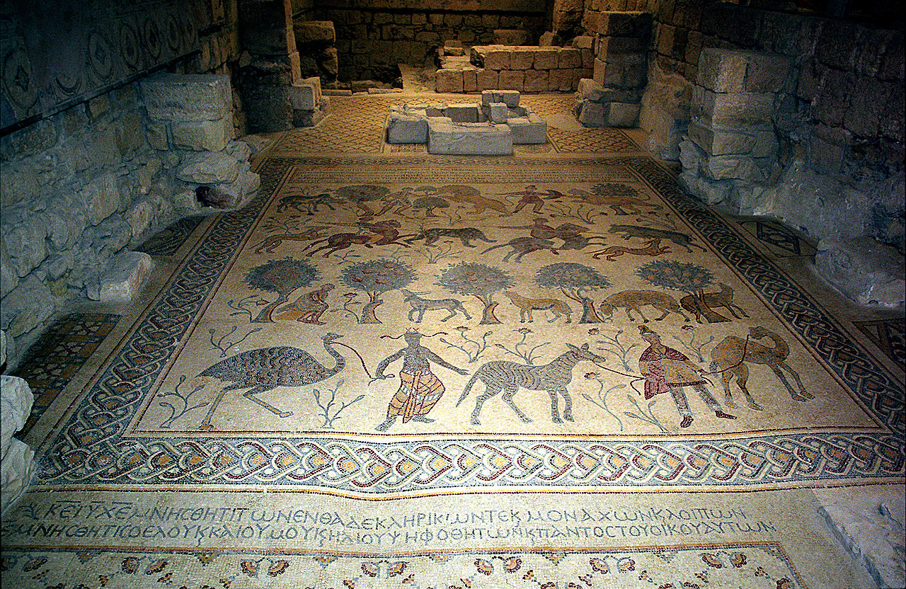 Гора Небо, мозаики древней церкви