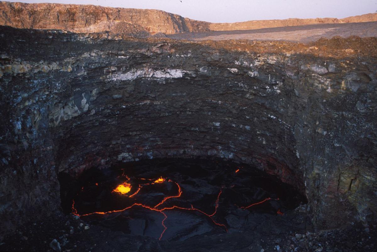 Вид вулкана Эрта Але