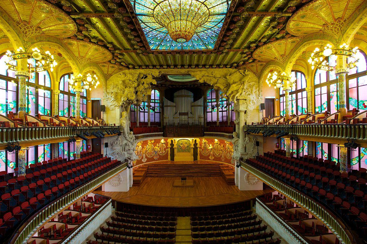 Дворец каталонской музыки, зал и сцена