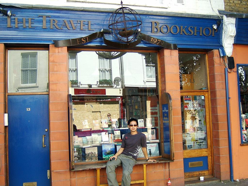Знаменитый книжный магазин в Ноттинг-Хилл, Лондон
