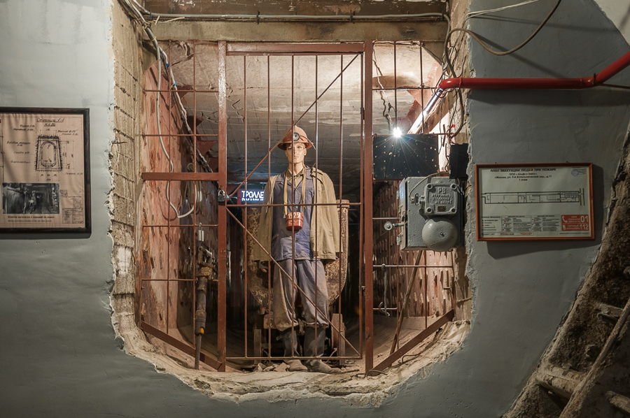 Экспонаты Музея Бункер-42 на Таганке