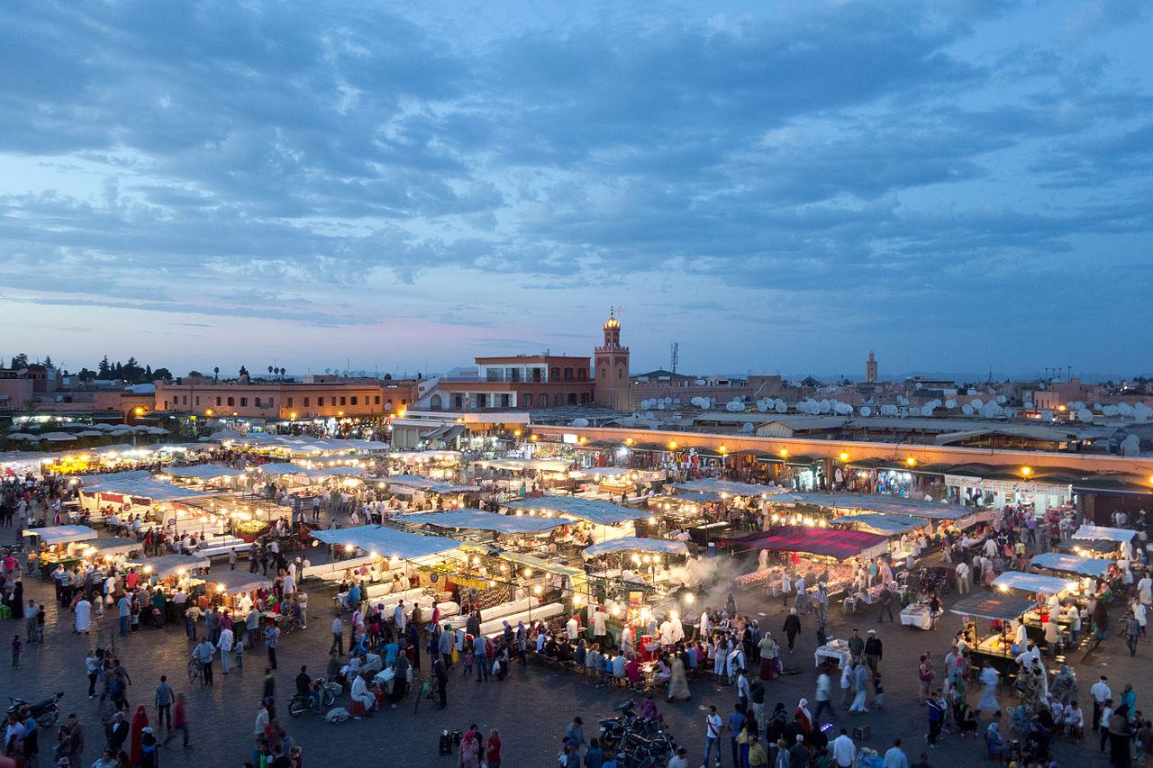 Площадь Джема эль-Фна, вечерняя торговля