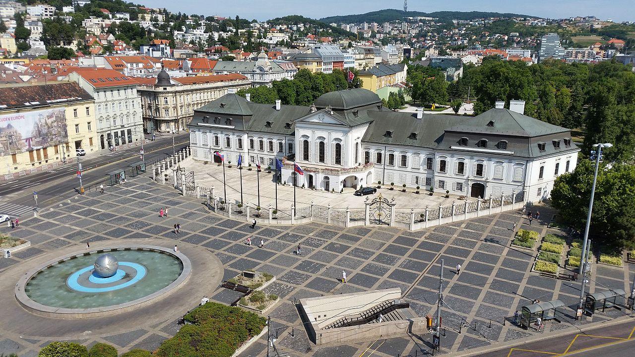 Президентский дворец Братиславы, аэрофотография