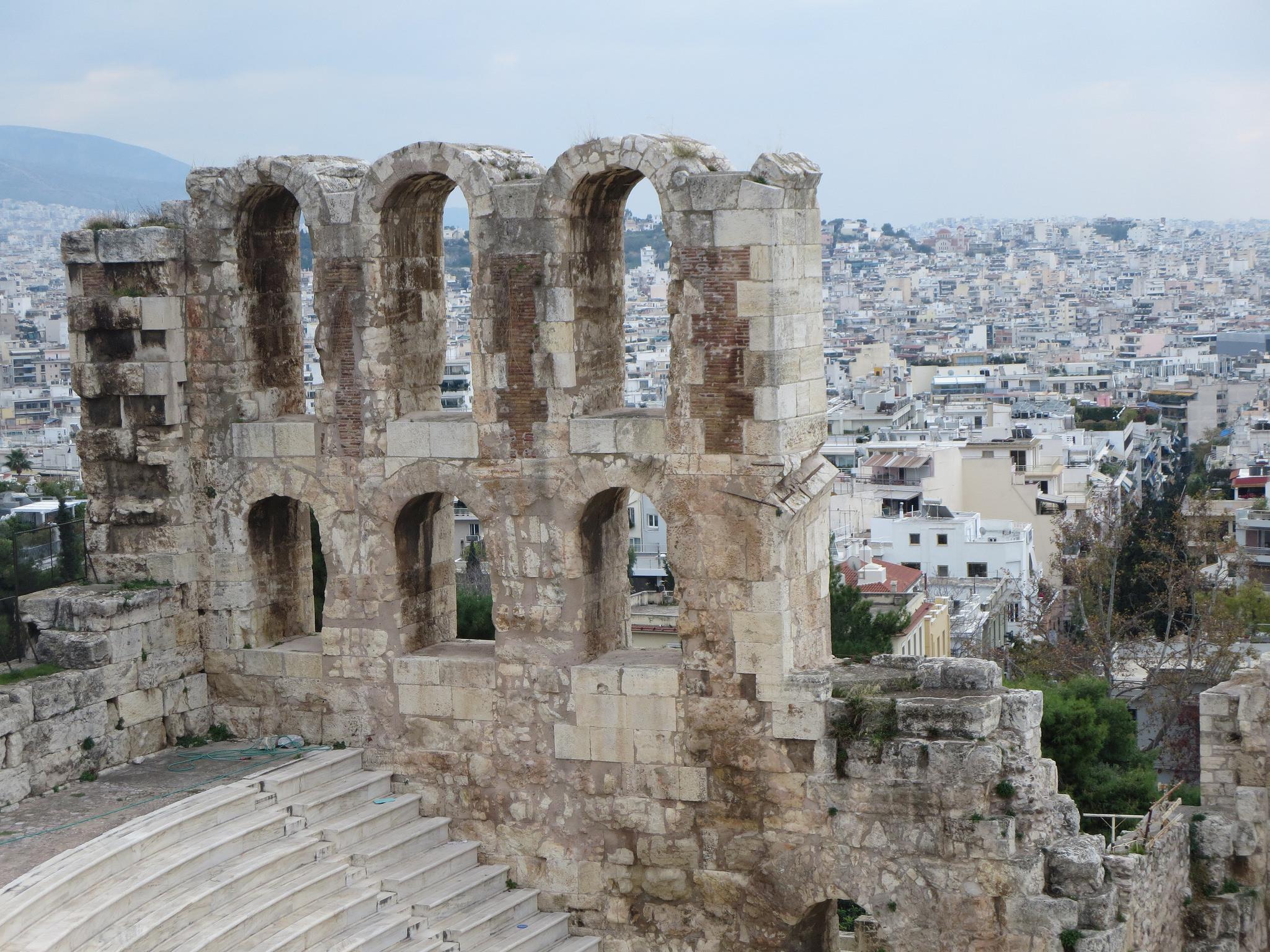 Вид на город, Афинский Акрополь