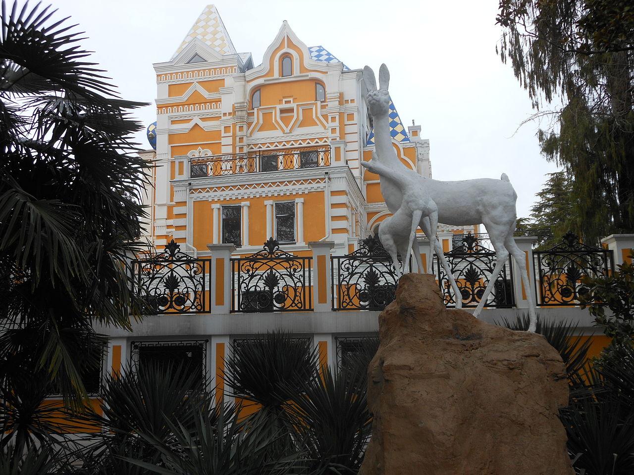 Парк Ривьера в Сочи, дом купца Хлудова.