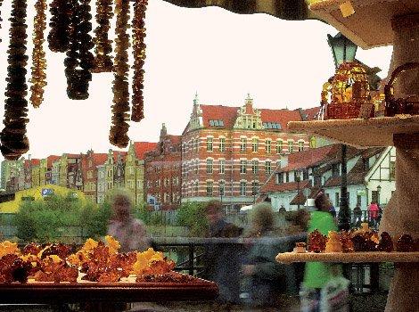 Янтарь в Гданьске