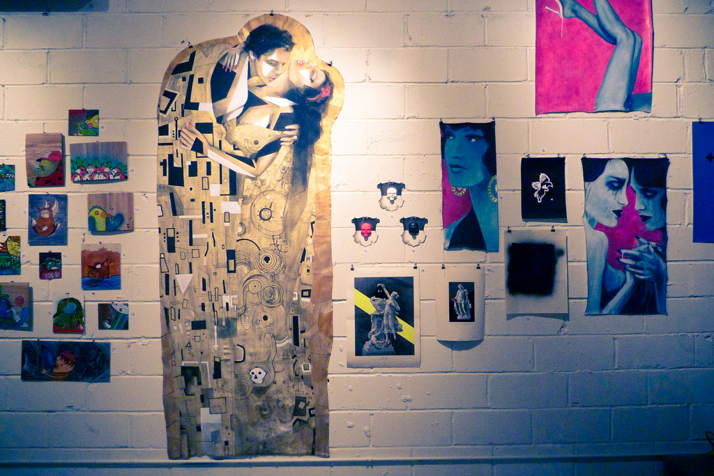 Галерея стрит-арта в Вене, экспозиция