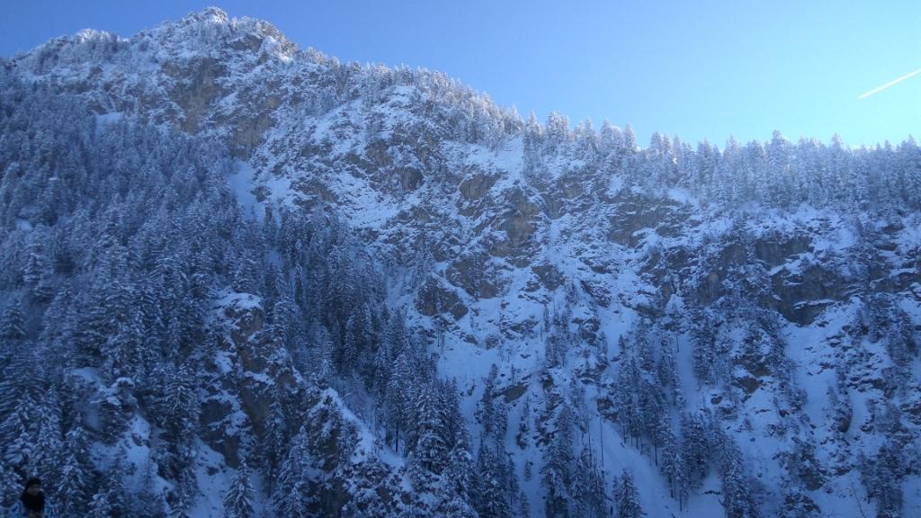 Зимние виды на горы близ замка Нойшванштайн