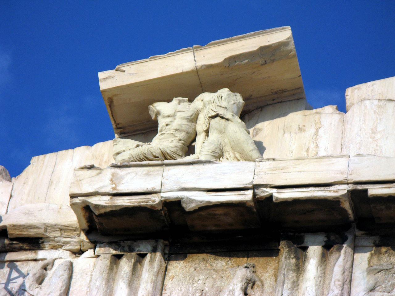 Парфенон в Афинах, фрагмент фронтона
