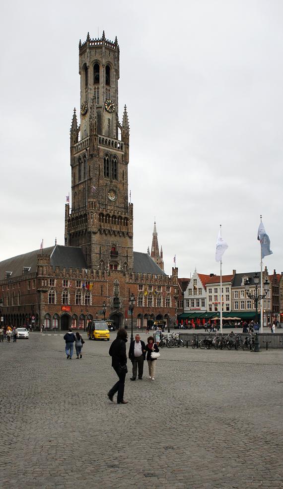 Площадь, Брюгге, Бельгия