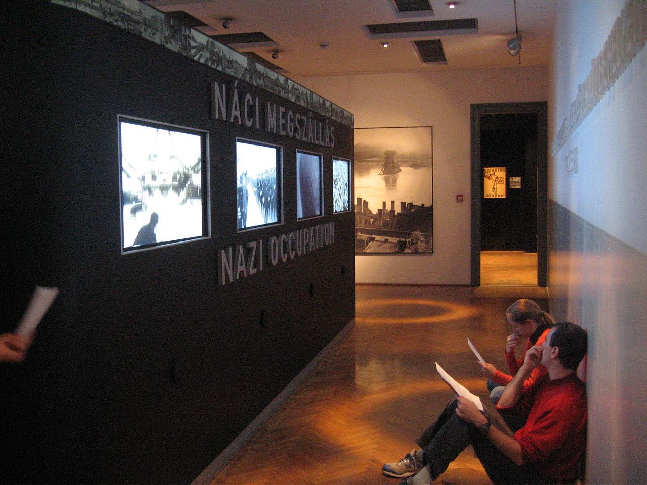 Музей террора в Будапеште, интерьер