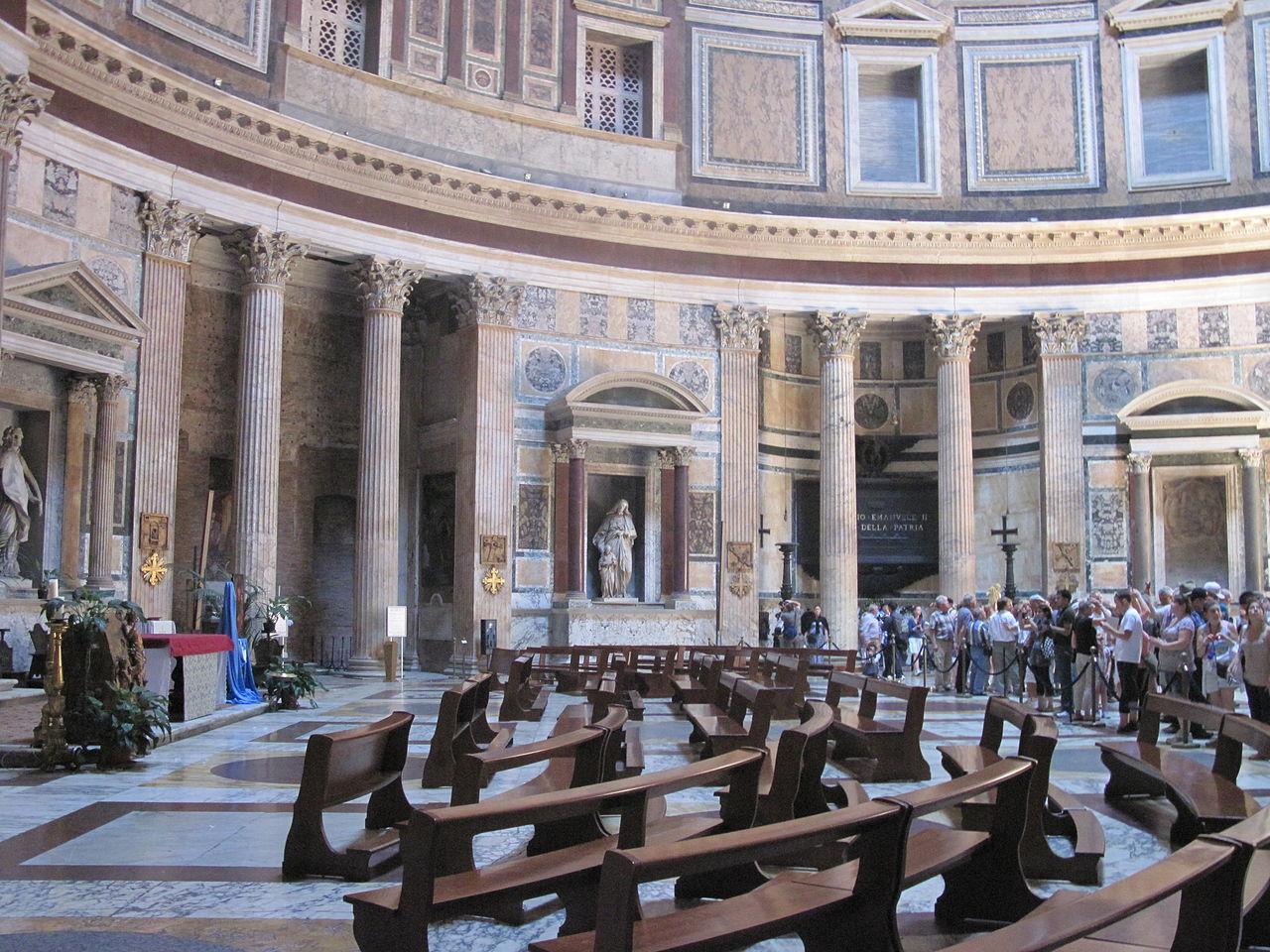 Пантеон в Риме, внутреннее пространство