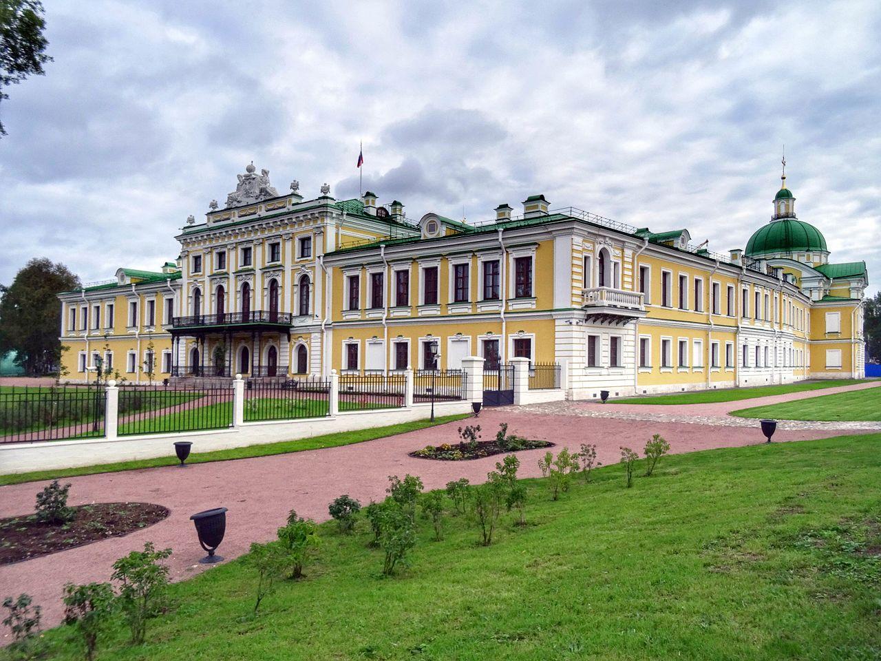 Вид на Императорский путевой дворец в Твери