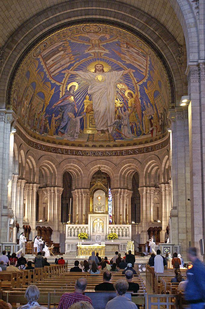 Сакре-Кёр, интерьер базилики с мозаикой