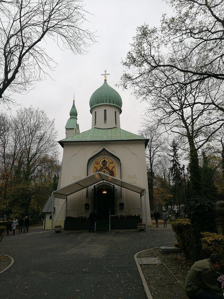 Часовня на территории Ольшанского кладбища в Праге
