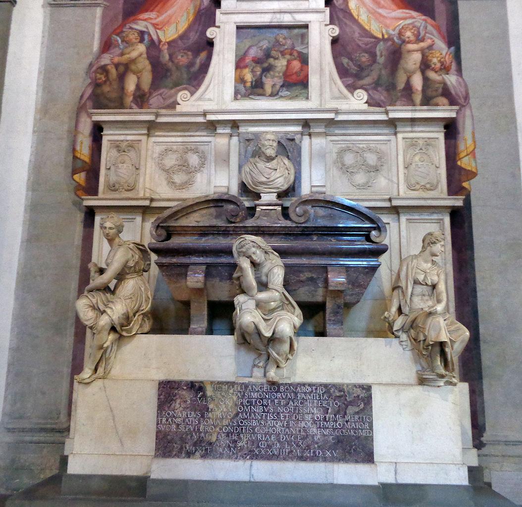 Базилика Санта-Кроче, гробница Микеланджело Буонарроти