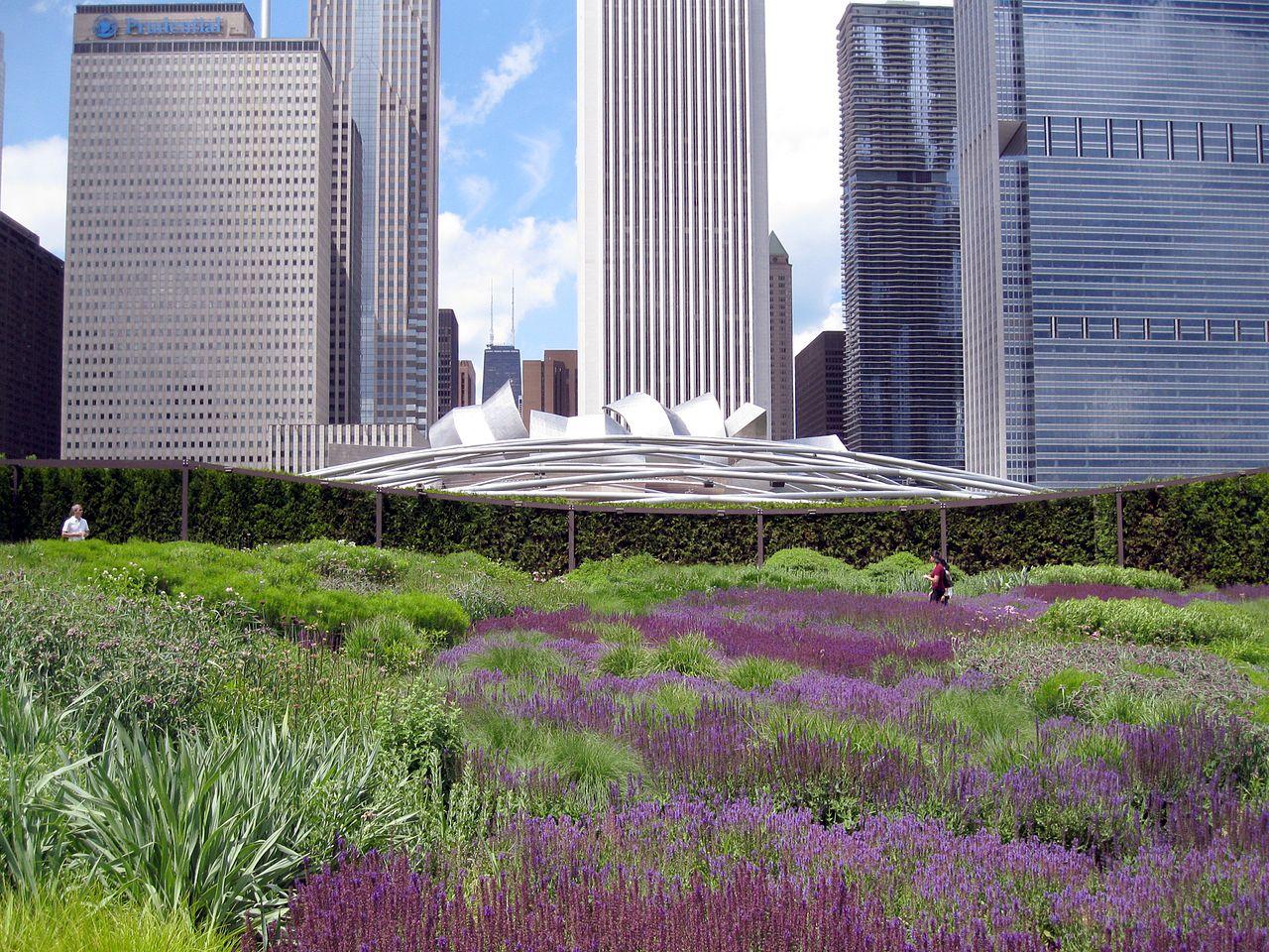 Миллениум-парк в Чикаго, сад Лури