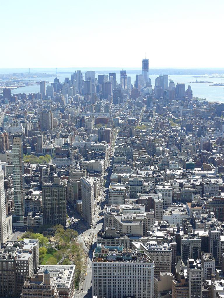 Пятая авеню, вид с воздуха