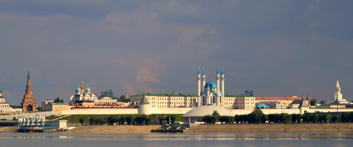 Вид на кремль, Казань
