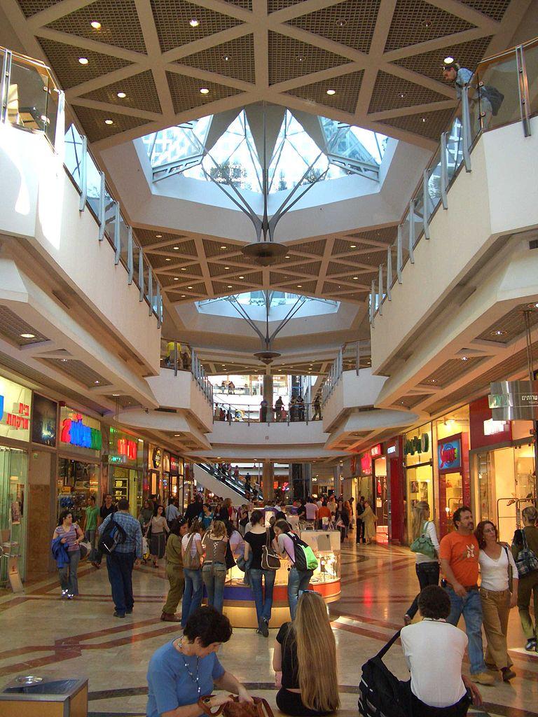 Центр Азриэли, интерьер торгового центра