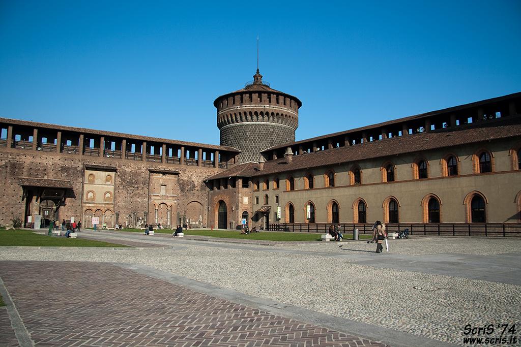 Внутренний двор, Замок Сфорца, Милан