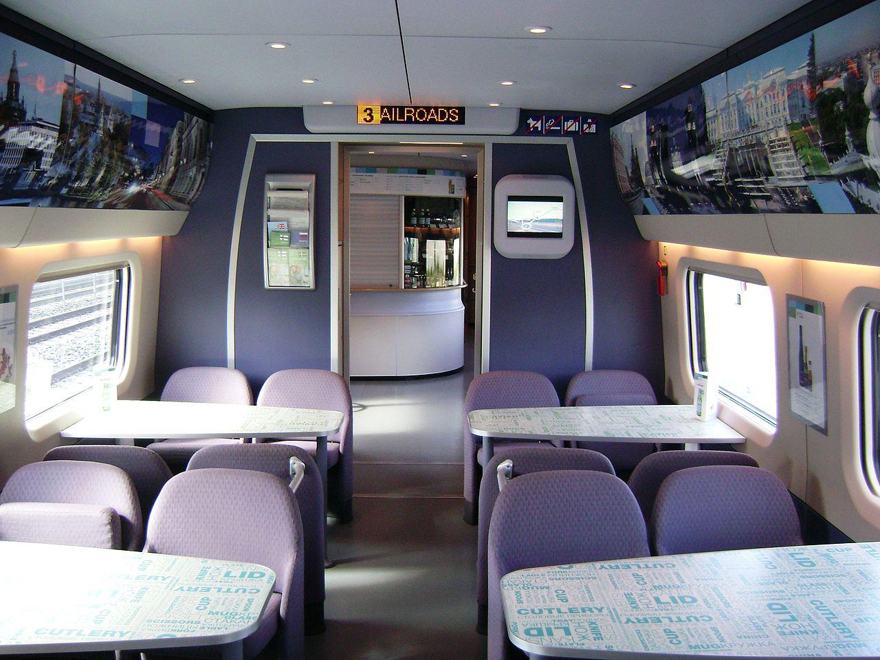 Скоростной поезд «Аллегро», бистро