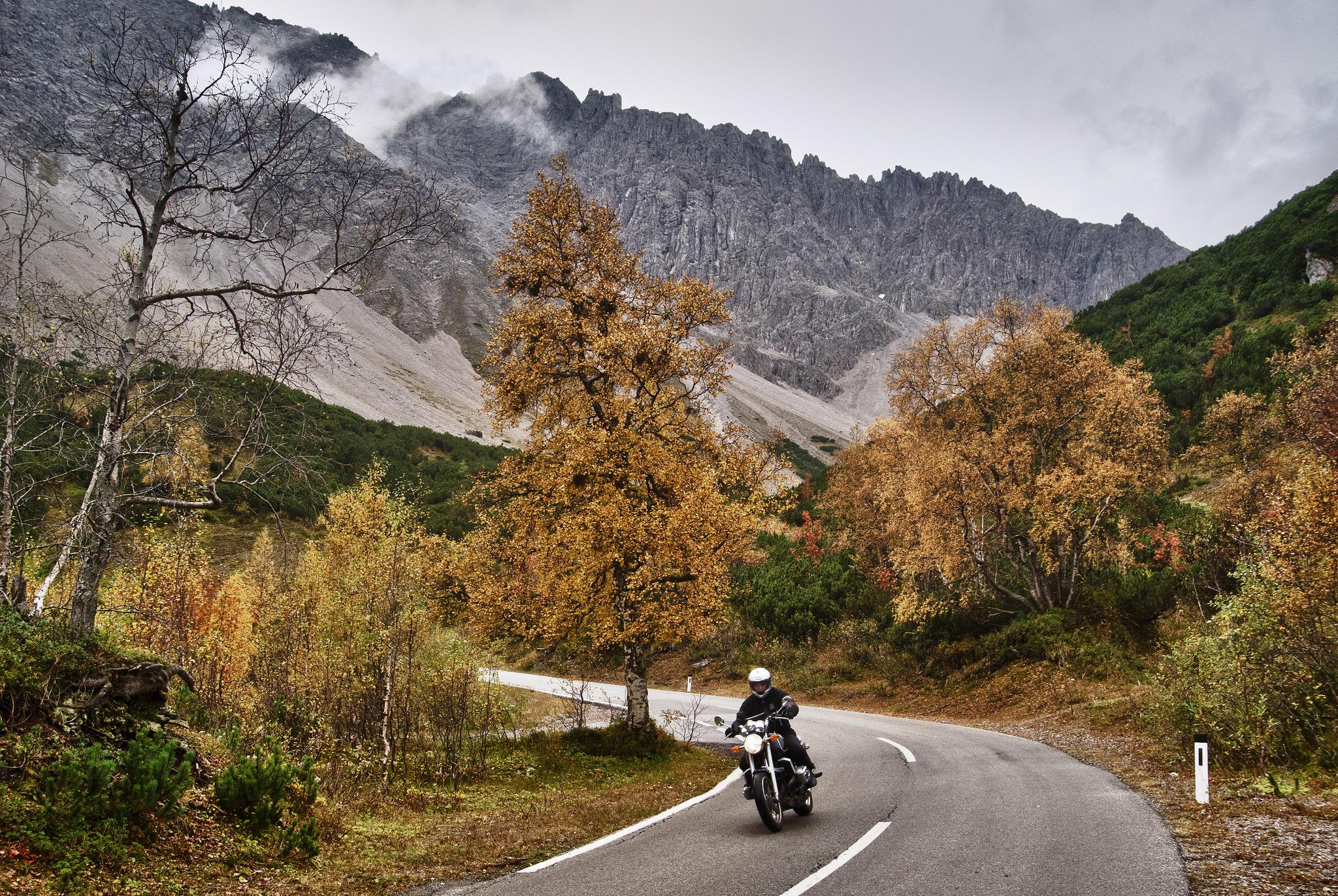 Австрийские Альпы, дорога в горах